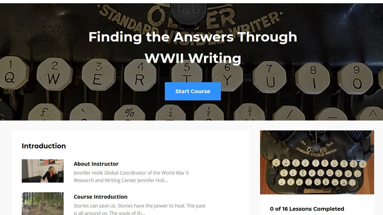 Iano7shpqbu25qiqvddz ftha through wwii writing course image
