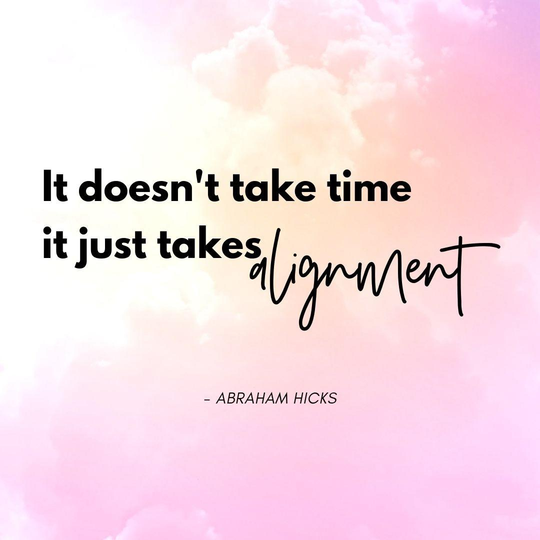 Pinterest Quote Graphic with Title It doesn't take time