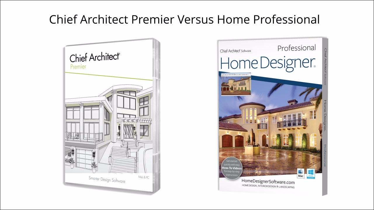 Chief Architect Premier versus Home Designer Pro