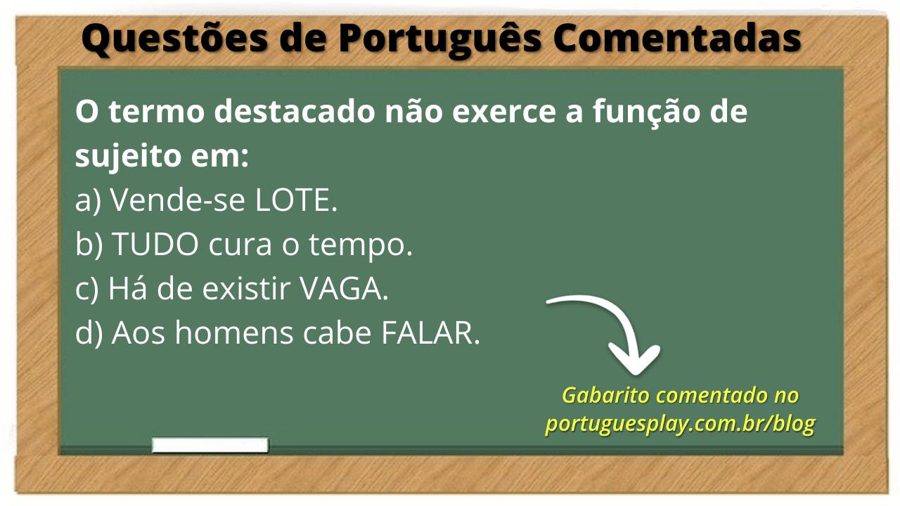 Questão de Português Comentada