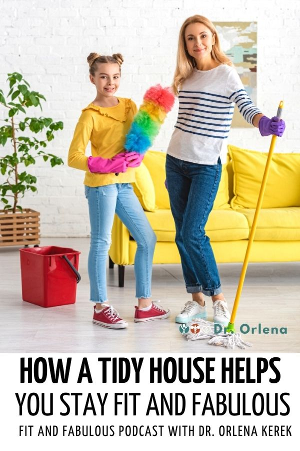 A mother and daughter cleaning the house #healthy #healthylife #clean #tidyhouse #housework