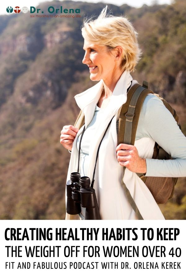 A woman over forty out on a hike #healthy #healthyliving #wellness #healthylife #healthyhabits #weightlosshabits #middleagewoman