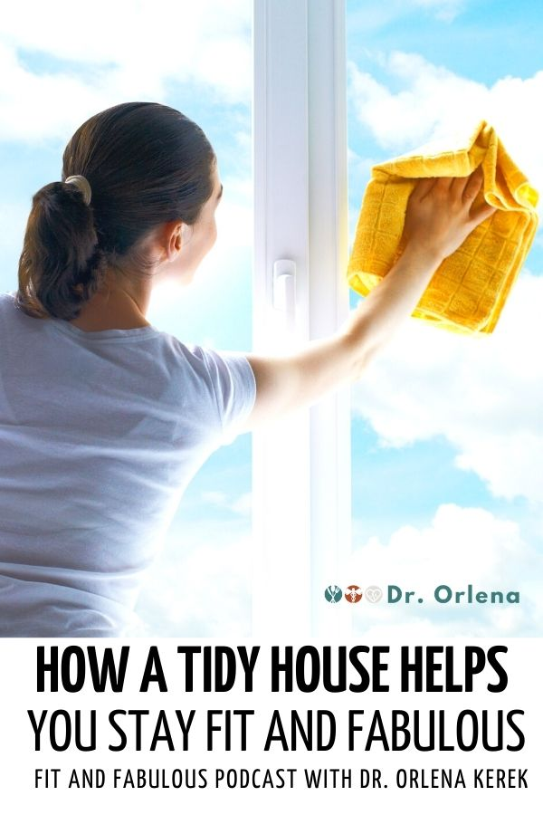 A woman wiping the glass windows #healthy #healthylife #clean #tidyhouse #housework