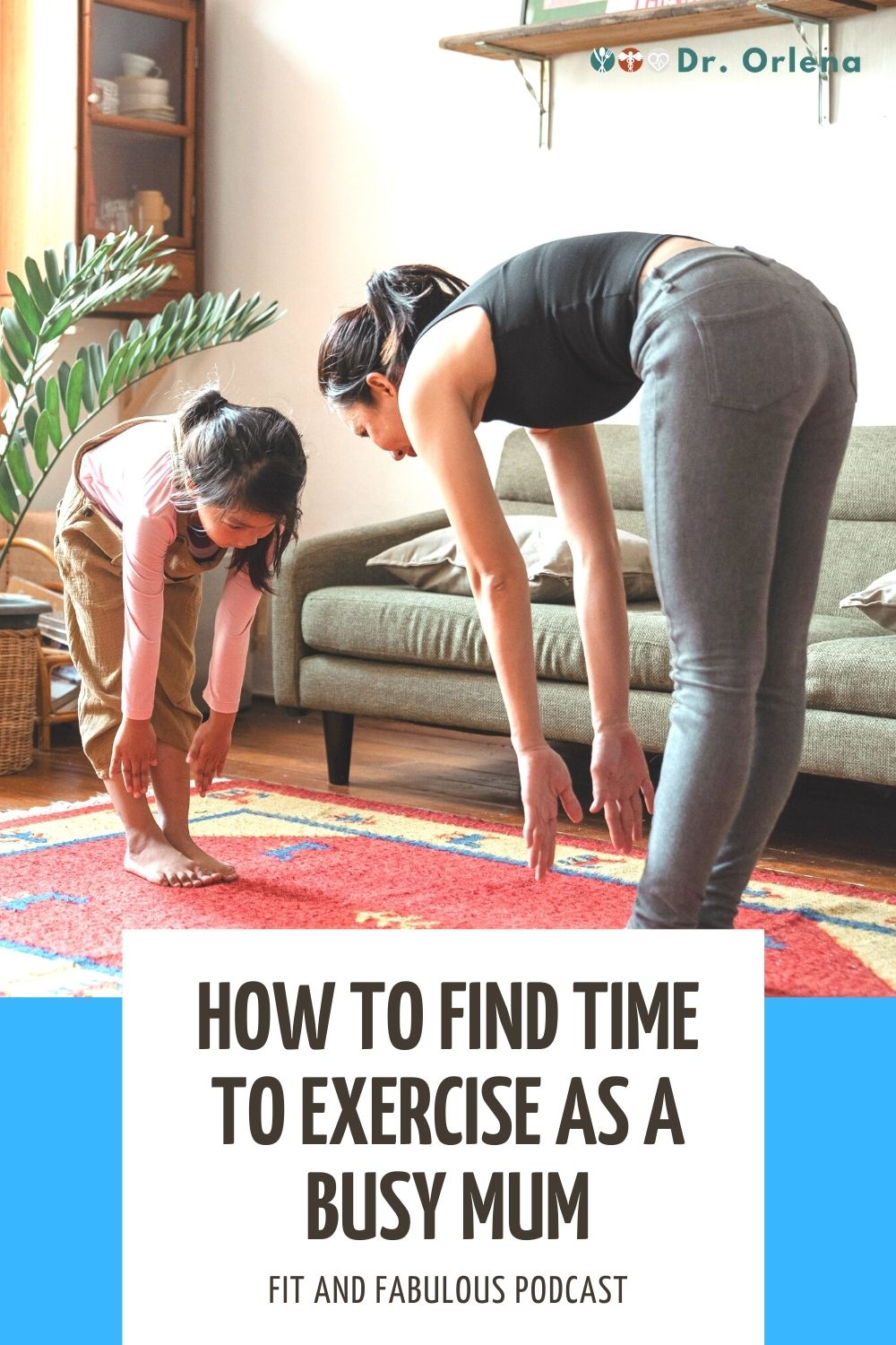 Asian mom and daughter doing exercises in their living room #momexercise #momhealth #activemom #healthymom #healthyliving