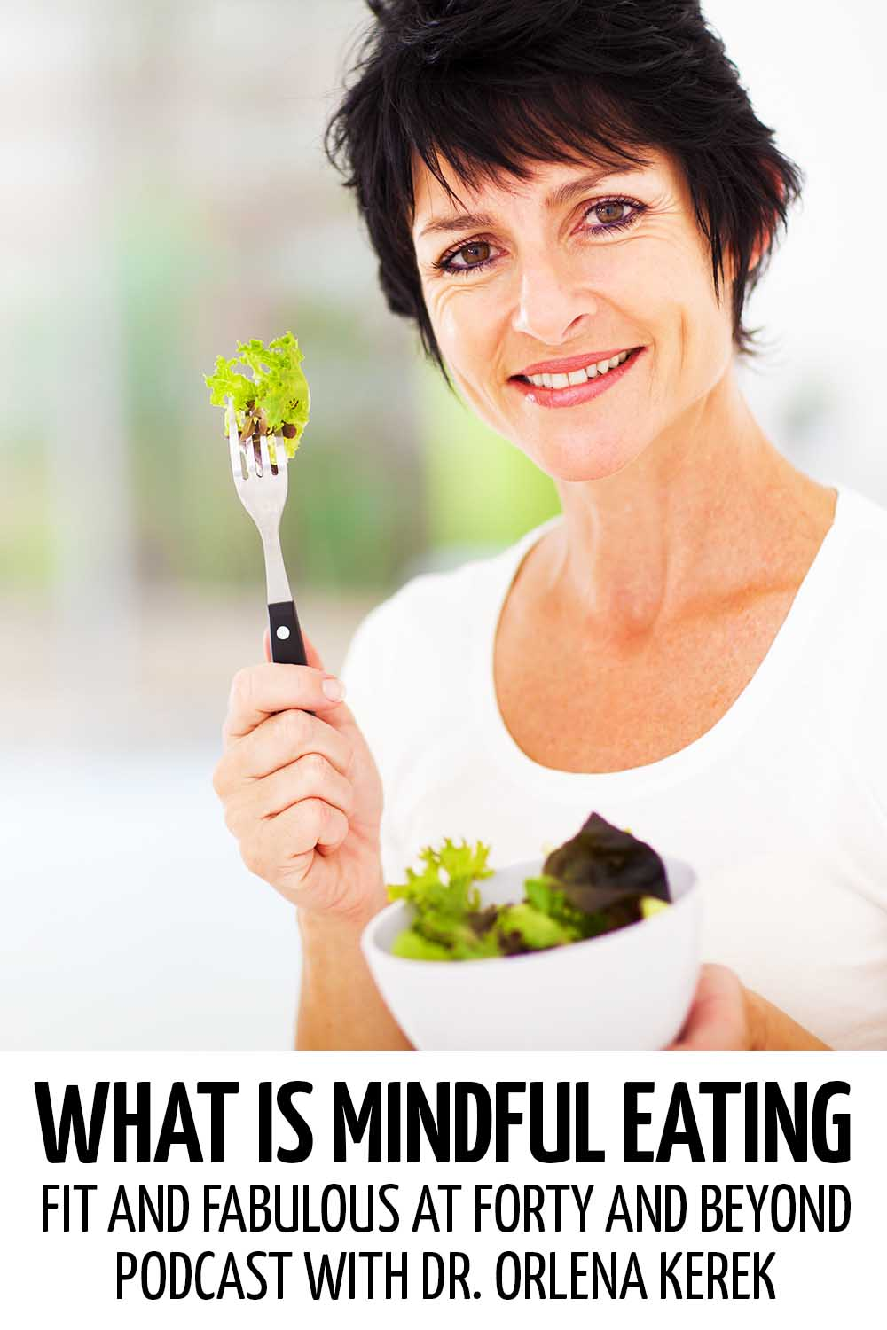 A middle-aged woman eating a bowl of salad #healthy #healthylife #healthyliving #healthylifetips #healthylivingtips #healthylivingmotivation #lifestyle #healthylifestyle #positivity #selfimprovement #weightloss #loseweight #mindfuleating #whatismindfuleating #mindfuleatingtips #mindfuleatingchallenge #mindfuleatingstress #mindfuleatinglosingweight #mindfuleatingexercise #mindfuleatingmantra