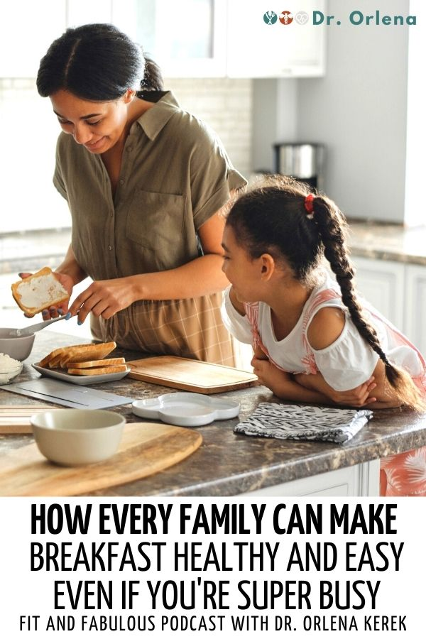 A mother preparing toast for her daughter #healthyfamily #healthybreakfast #parenting #healthyparenting #cookingforfamily #busymoms