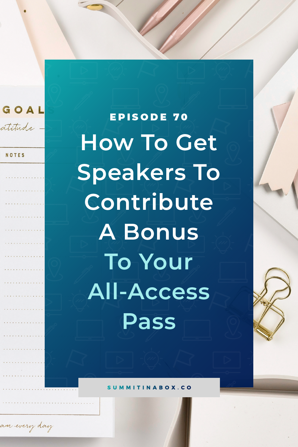 A virtual summit all-access pass that sells is all about the bonuses. Here's how to encourage speakers to contribute a bonus for your all-access pass.
