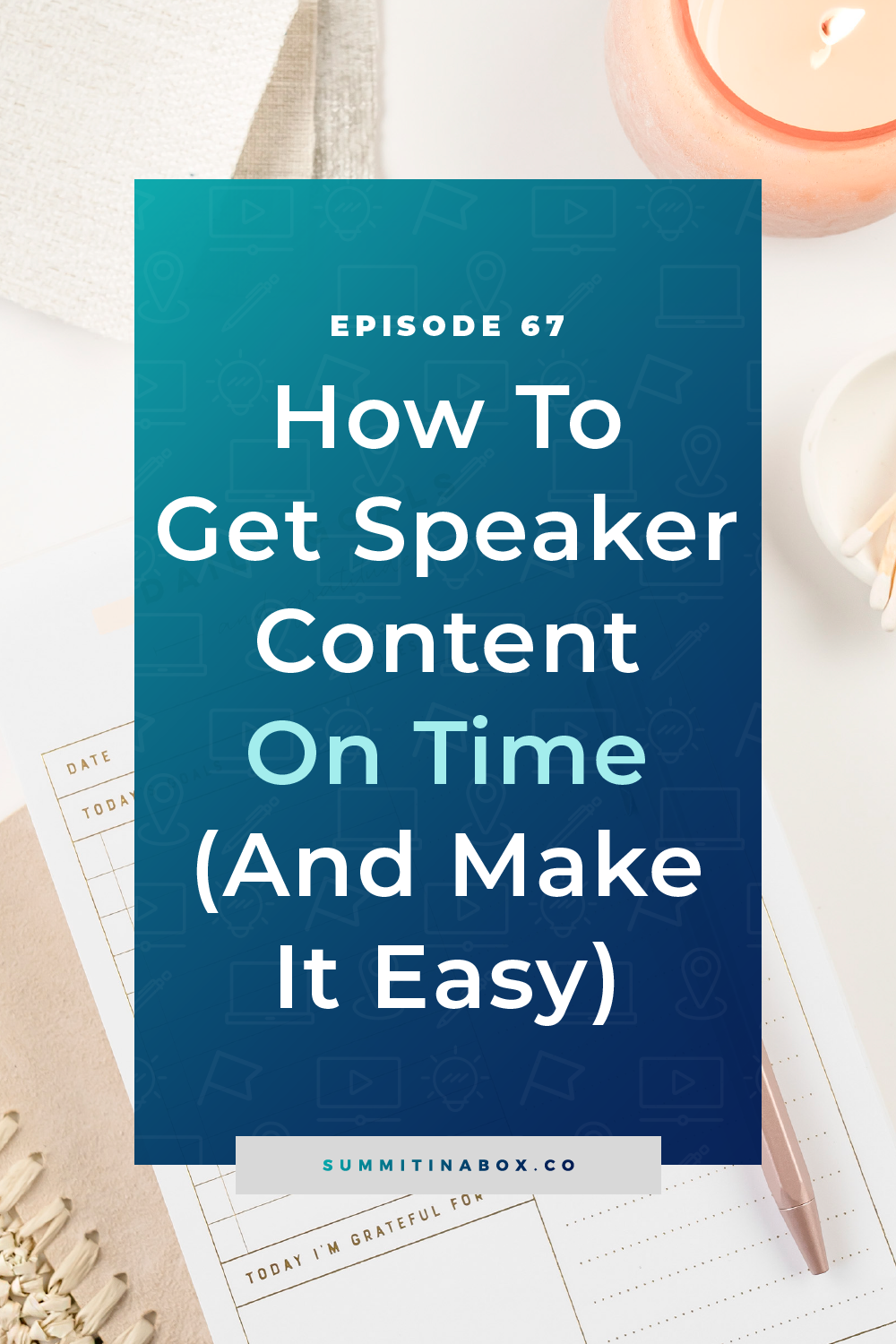 Feel like dealing with your virtual summit speakers is like herding cats? It can be! Here's how to get your speaker content on time and make it easy!