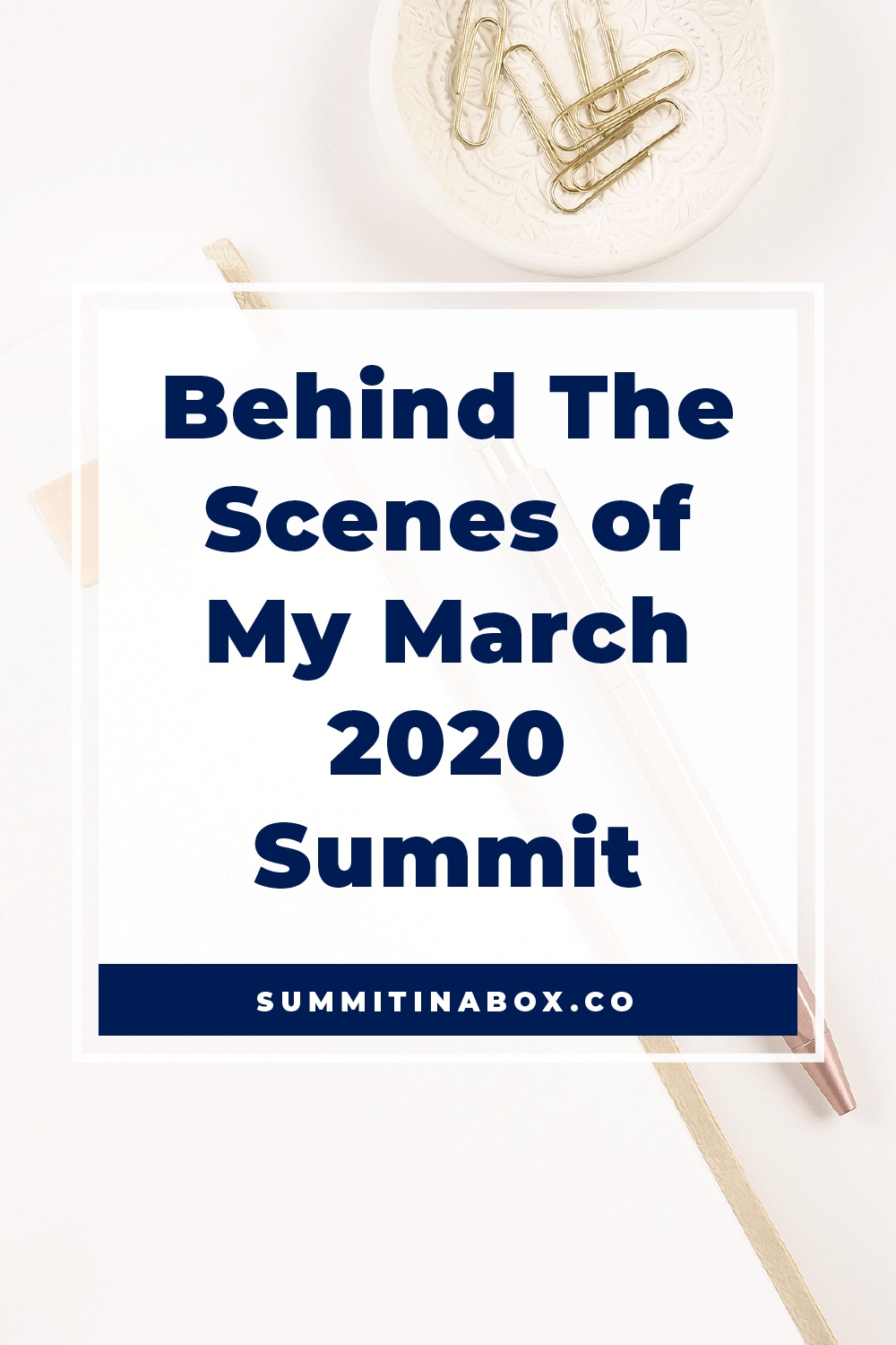 Come behind the scenes and learn about all the details that went into my 4th virtual summit!