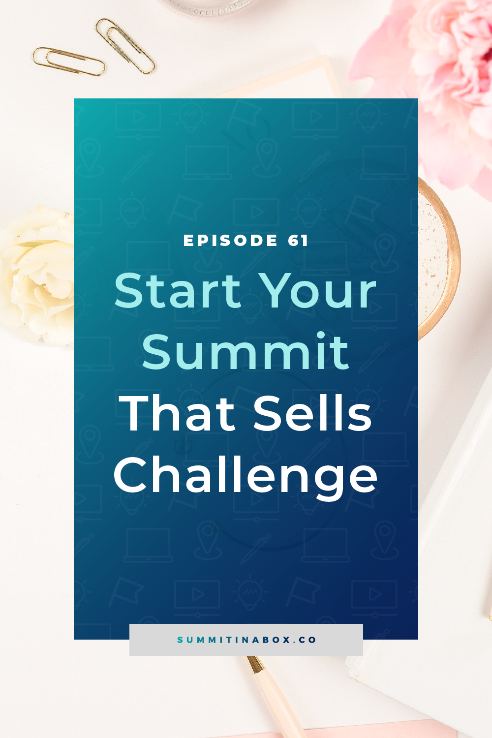 The Start Your Summit That Sells challenge will help you start taking action to plan, strategize, and launch your profitable, momentum boosting virtual summit.