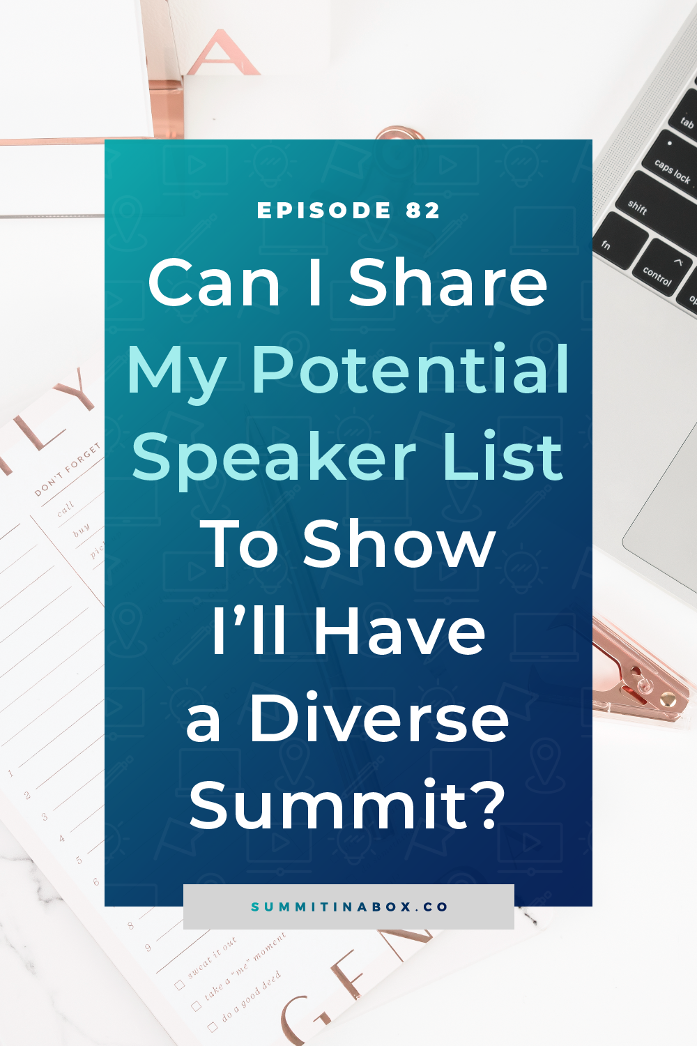 Have you been asked to share your speaker list, before it's final, to illustrate that you'll have a diverse virtual summit? Is it even okay to do that?