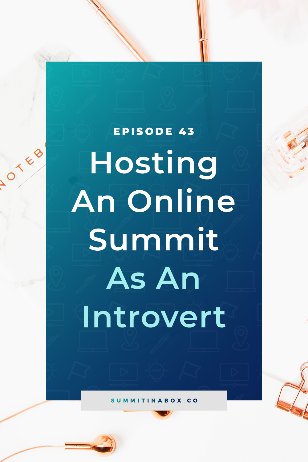 Being an introvert shouldn't hold you back from growing a business and you *can* host a virtual summit as an introvert. Here's how to use it to your advantage!