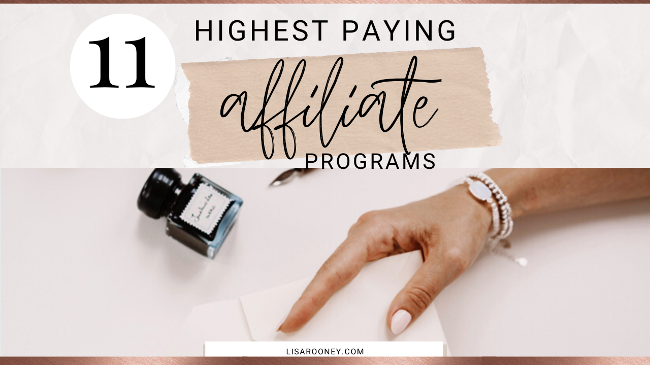 Affiliate Programs Highest Paying