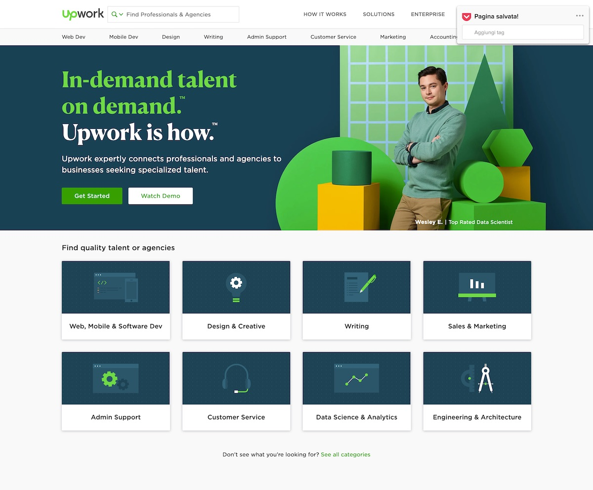 Upwork - Come lavorare nel web marketing