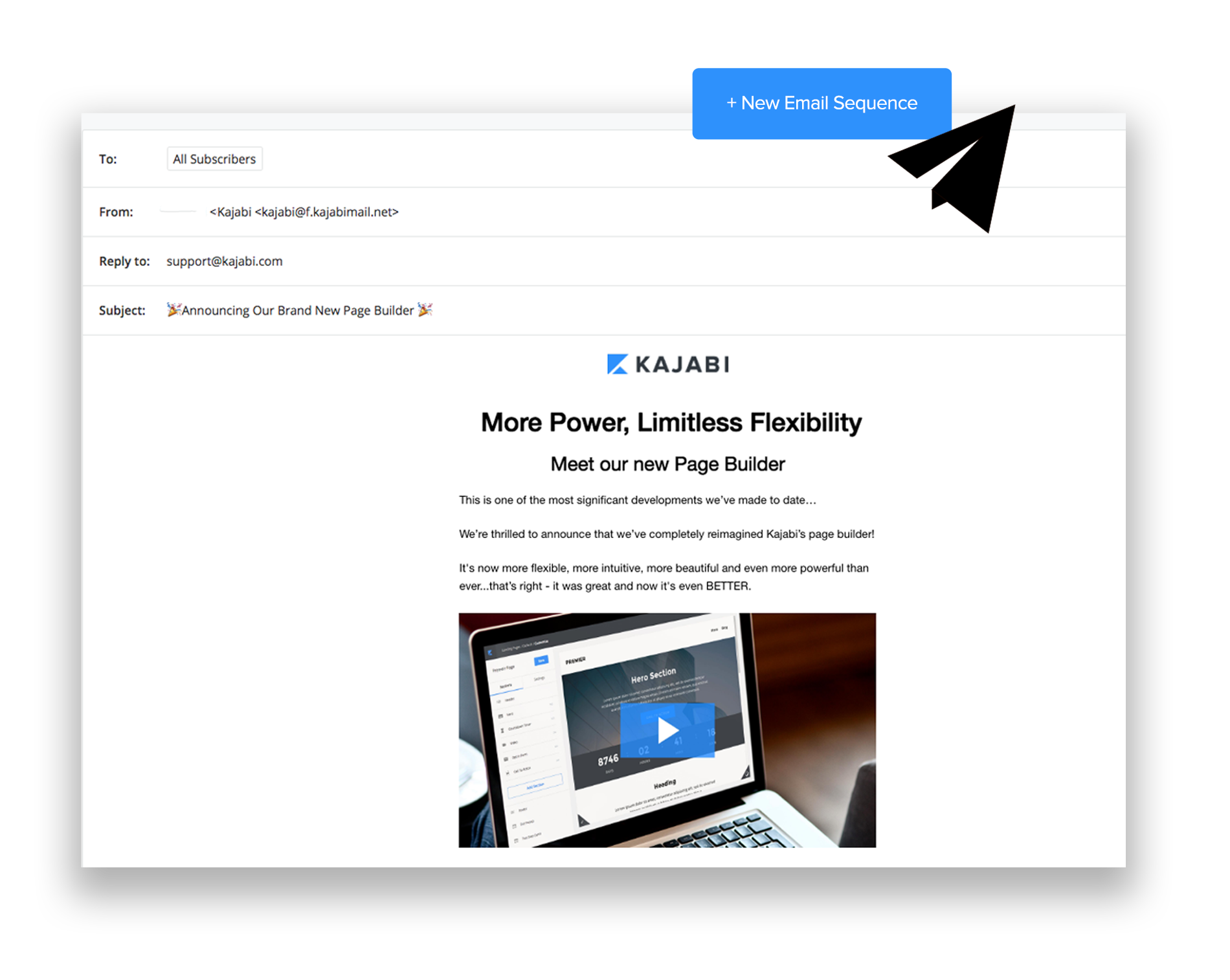 email marketing con Kajabi