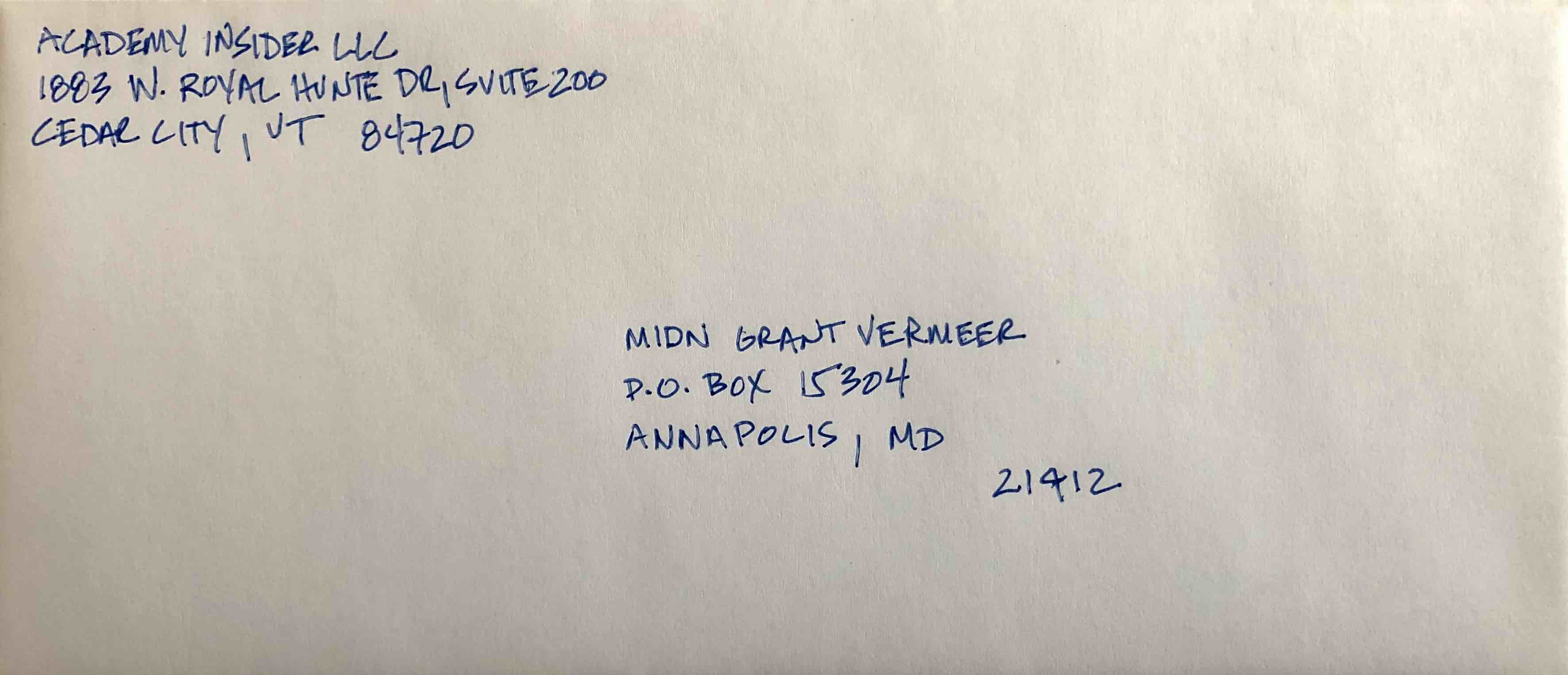 Label An Envelope With A Po Box