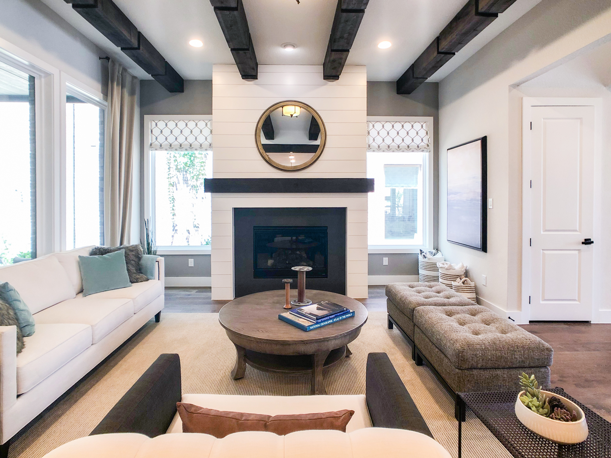 Add Wood Beams To Your Home For A Bold, Wood Beams In Living Room Ceiling