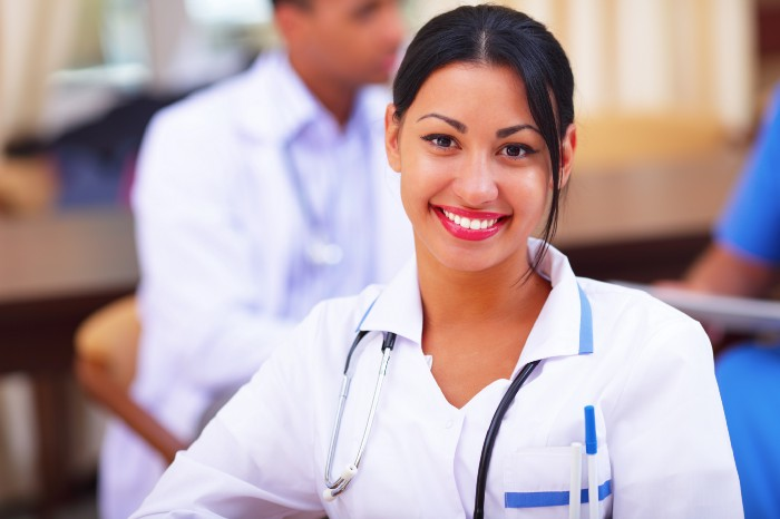 smiling female cannabis doctor