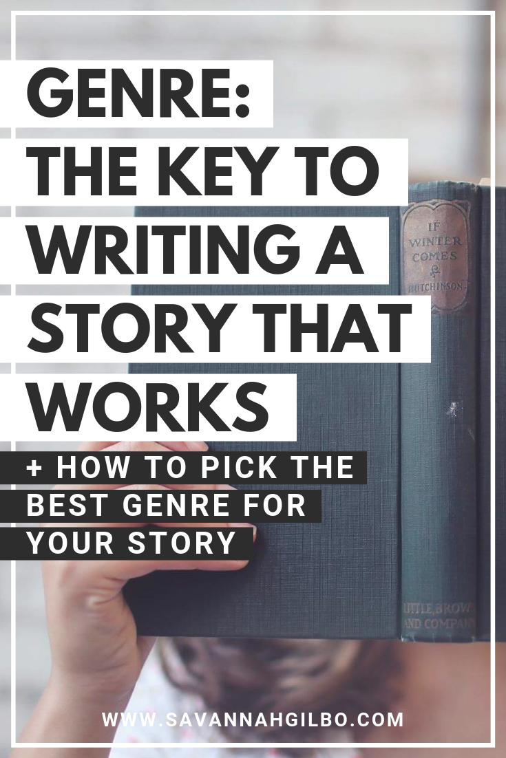 Understanding Genre: How to Write Better Stories | Savannah Gilbo - Want to learn how to write a book that works? What's your genre? Genre is the key to writing a great story that readers will love. Learn more + see other writing tips in this post! #amwriting #writingtips #writingcommuntiy