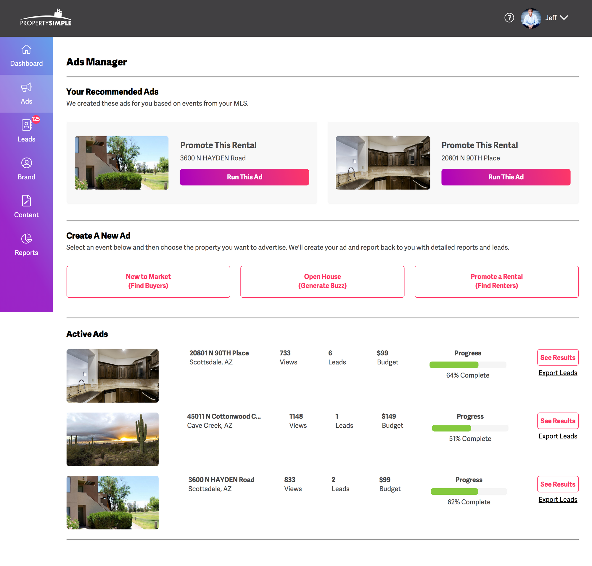 PropertySimple Ads Manager