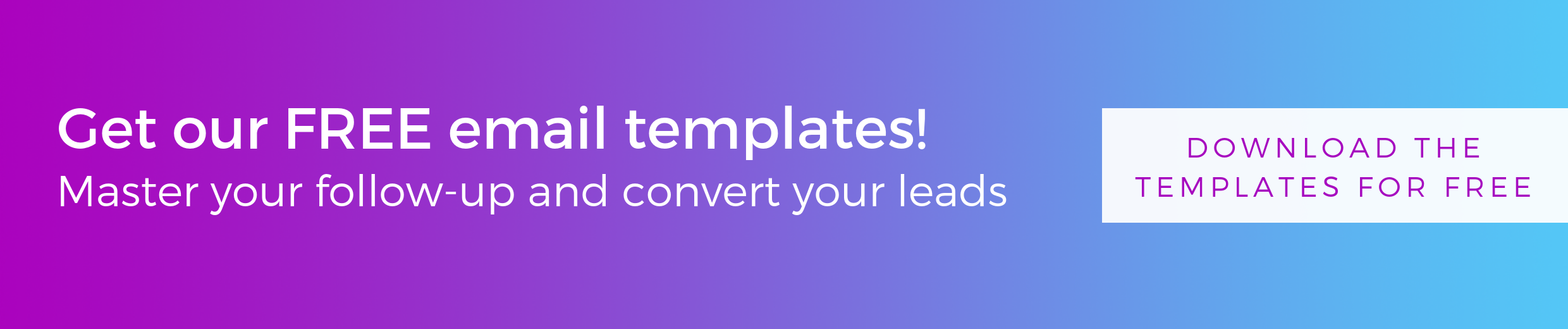 Get free email templates for successfull lead follow-up