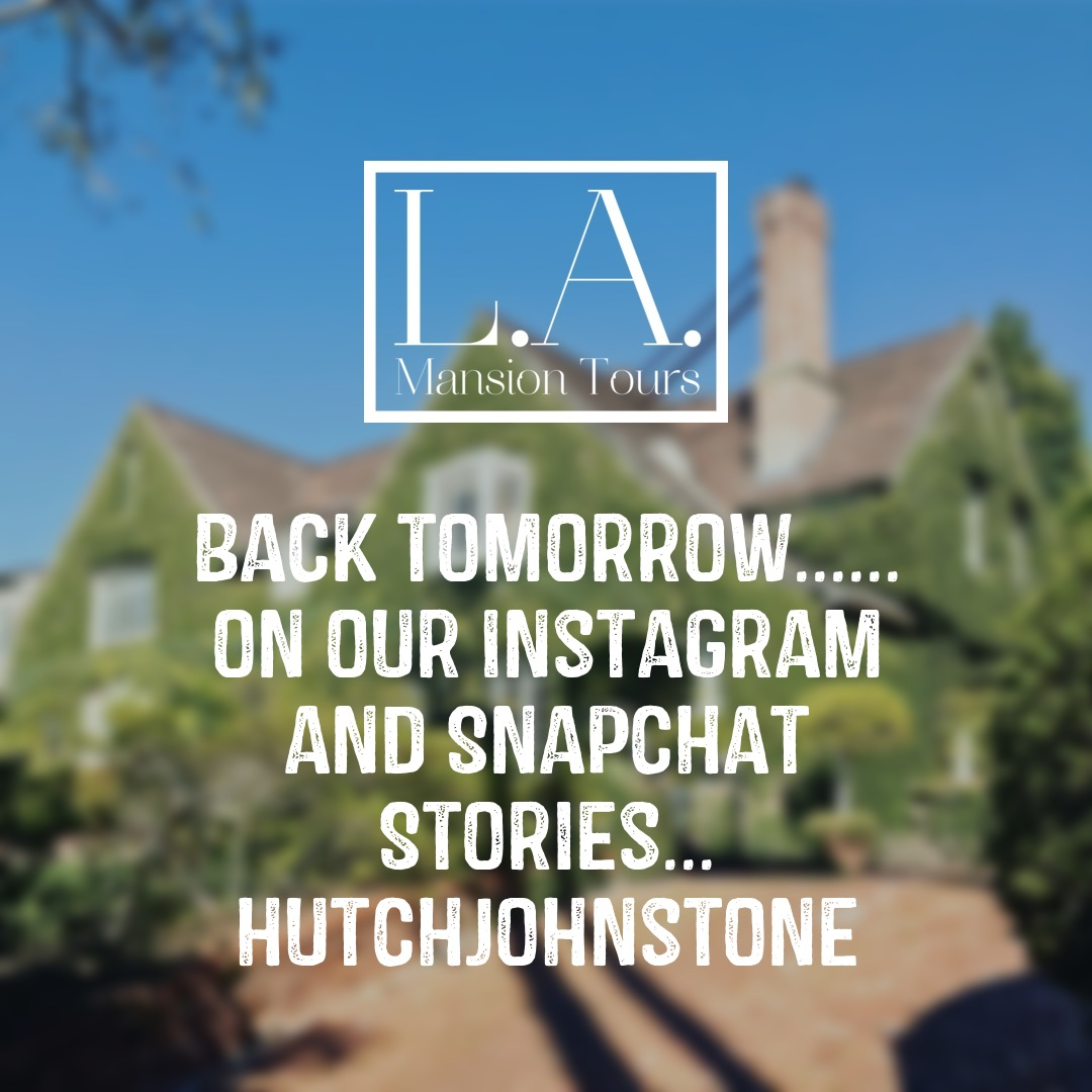 Instagram post that reminds Ed's audience that LA Mansion tours will be back on his Instagram stories tomorrow
