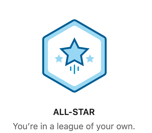 All star badge