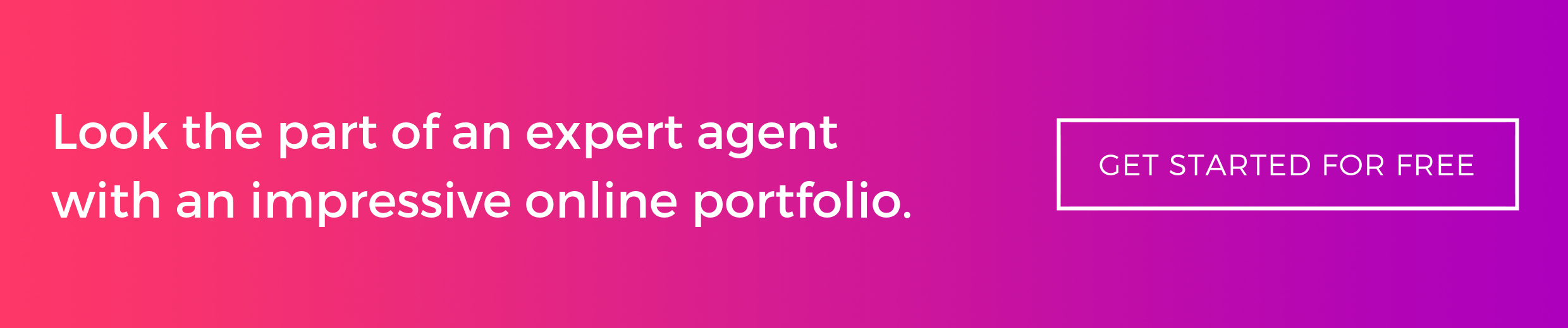 Look the part of an expert agent with an impressive online portfolio