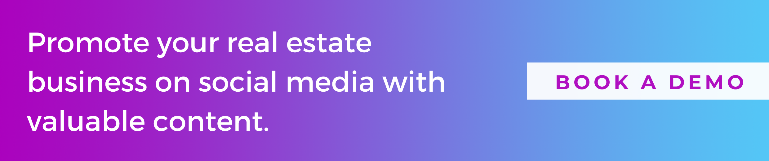button to get started for free and promote your real estate business on social media with valuable content