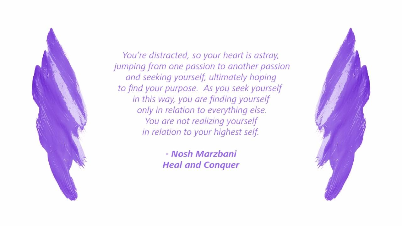 Realize yourself in relation to your highest self