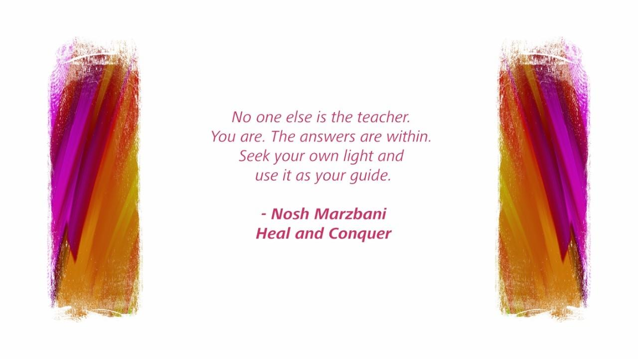 You are your own teacher