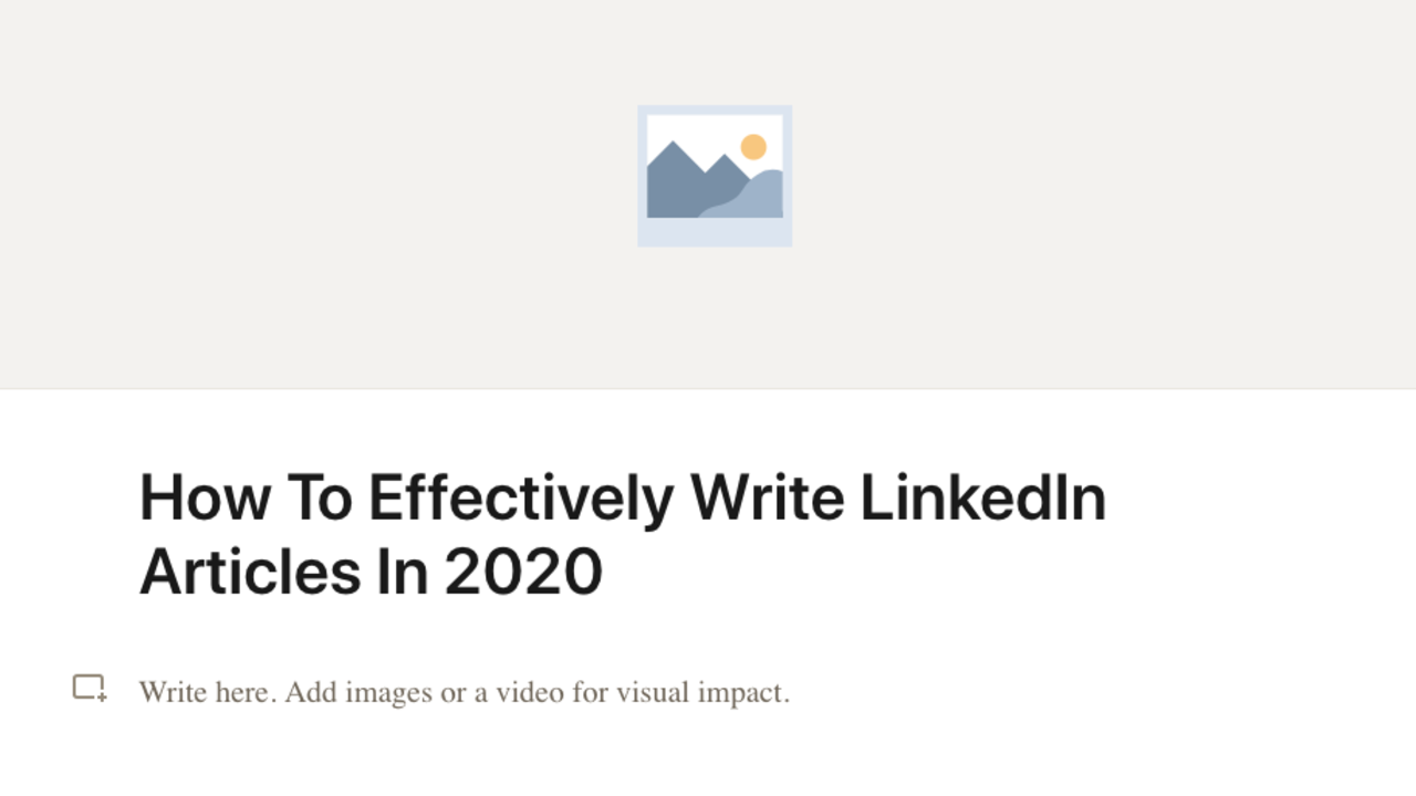 linkedin articles