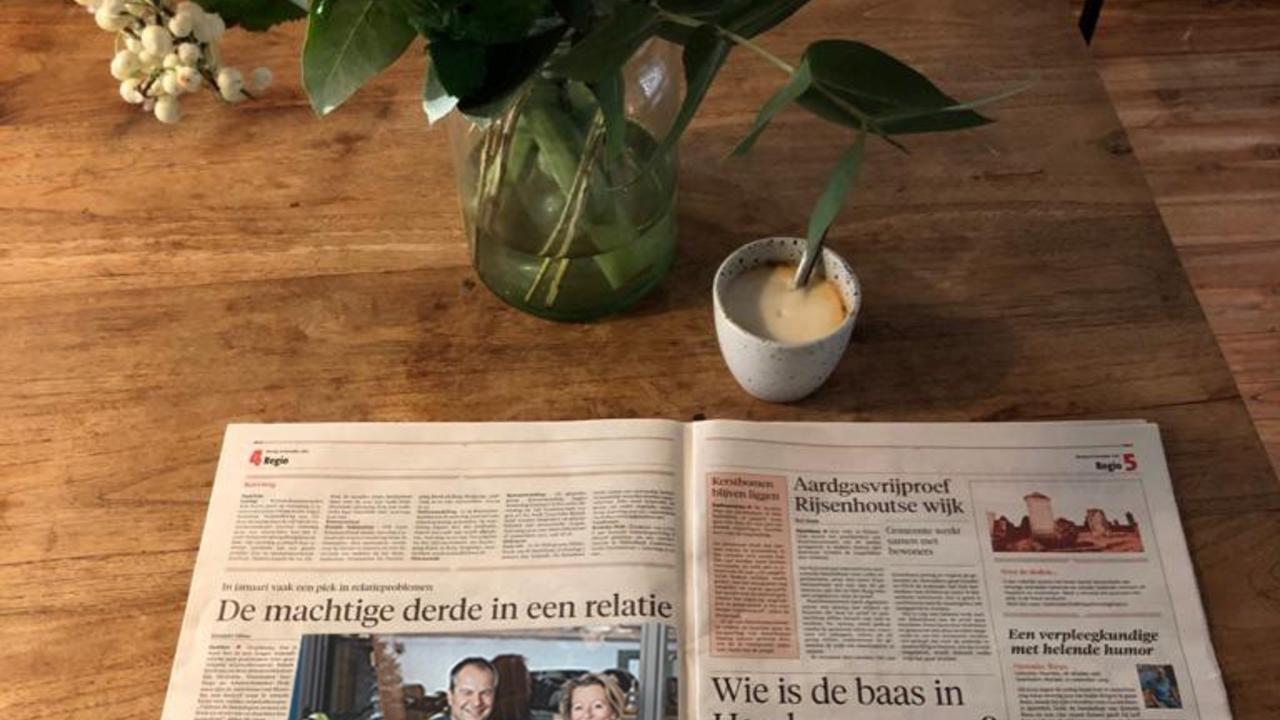 artikel online relatietherapie in het Haarlems dagblad