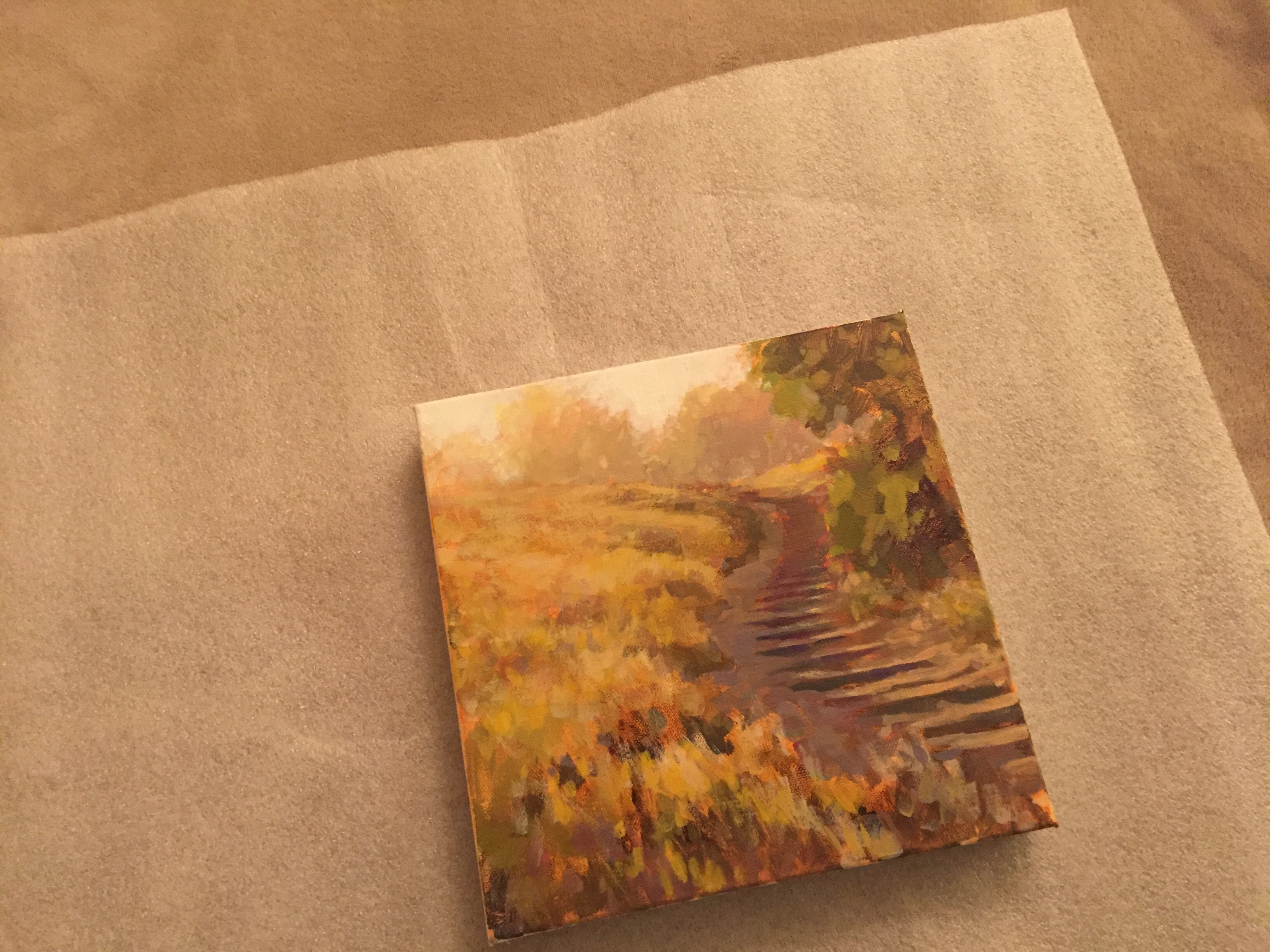 wrapping a painting