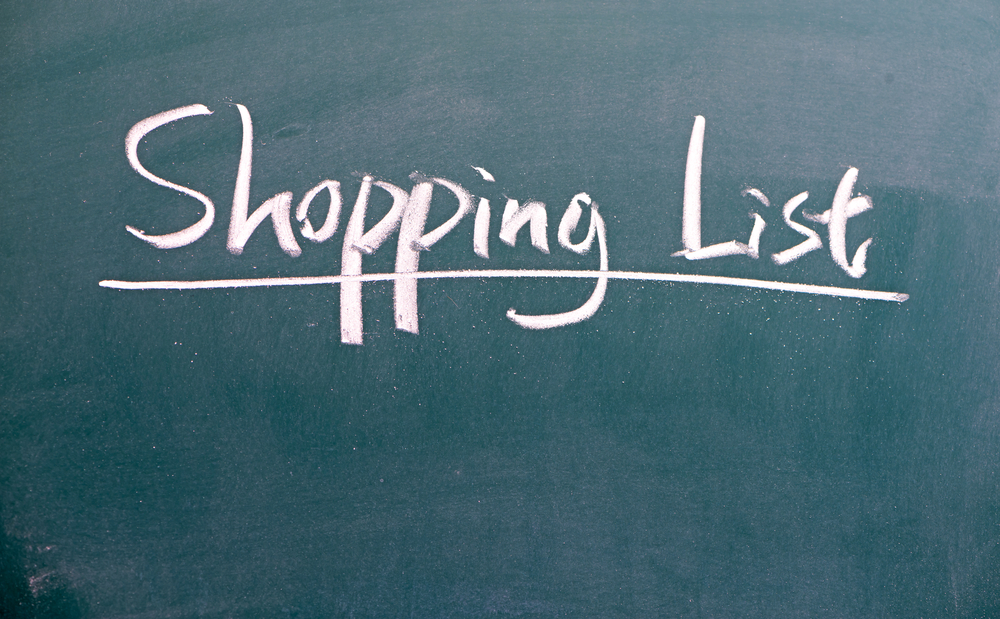 save on groceries with a shopping list