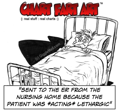 patient acting lethargic