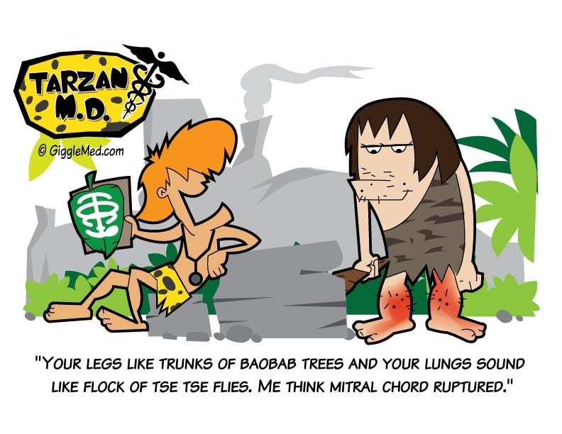 Healthcare comics - Tarzan MD physical exam - edema