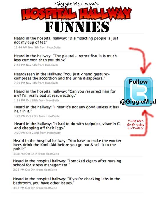 Hospital Humor on Twitter - Hallway Funnies