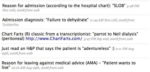 Health Care Humor Tweets