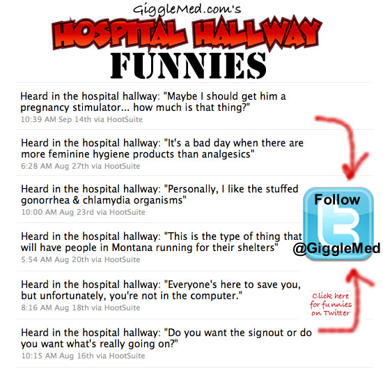 Medical Humor on Twitter - Hospital Hallway Funnies