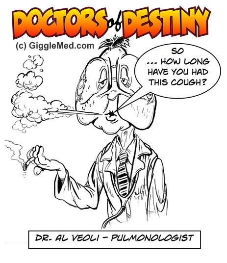 Doctor Jokes in Comics - Pulmonary Medicine Humor