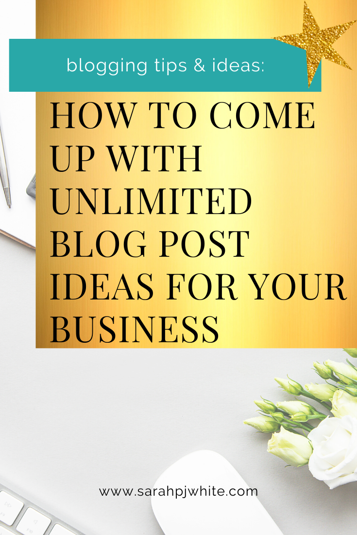 How to come up with unlimited blog post ideas for your business