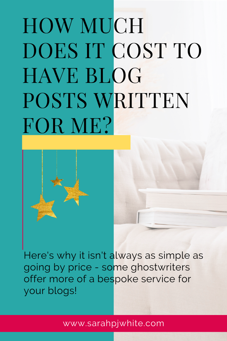Here's why it isn't always as simple as going by price, when looking for a ghostwriter, as some offer a more bespoke service for your blogs!
