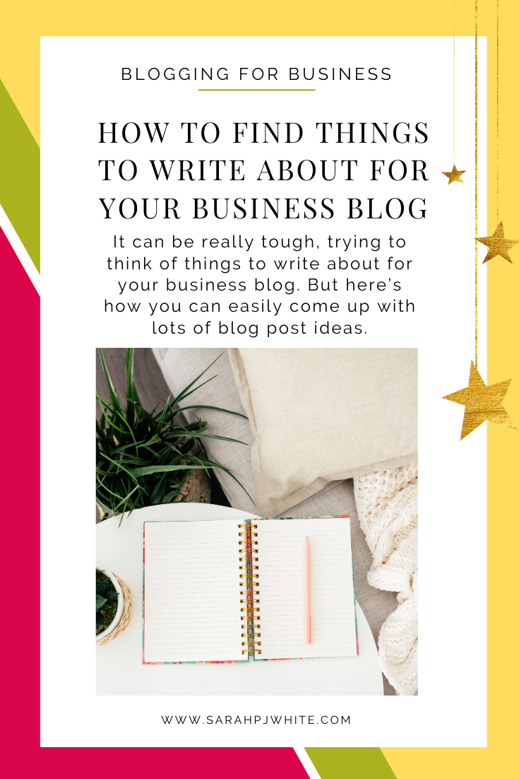 Coming up with ideas can be difficult. These ideas will make it super easy for you and help you come up with lots of blog post ideas for your business blog.