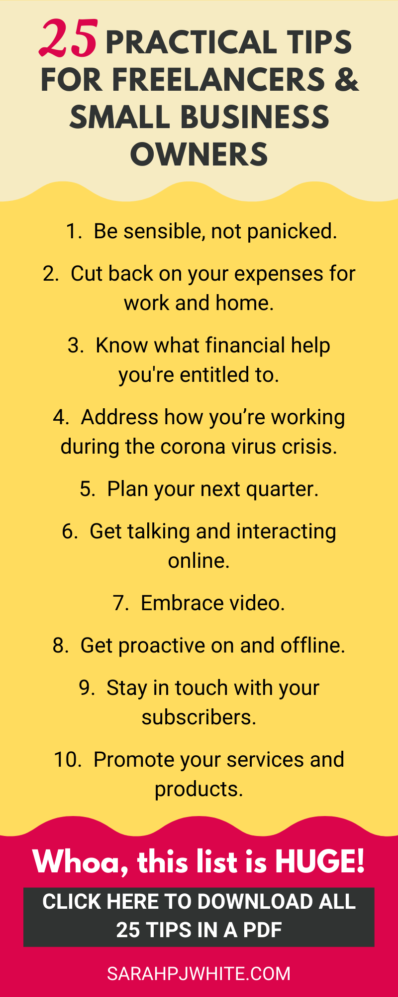 25 Practical tips for freelancers & online business owners who want to calm the fear & get productive.