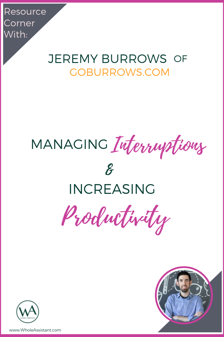 Resource Corner Interview with Jeremy Burrows