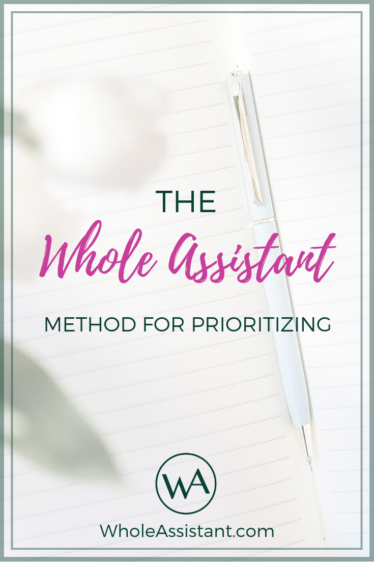 The Whole Assistant Method for Prioritizing