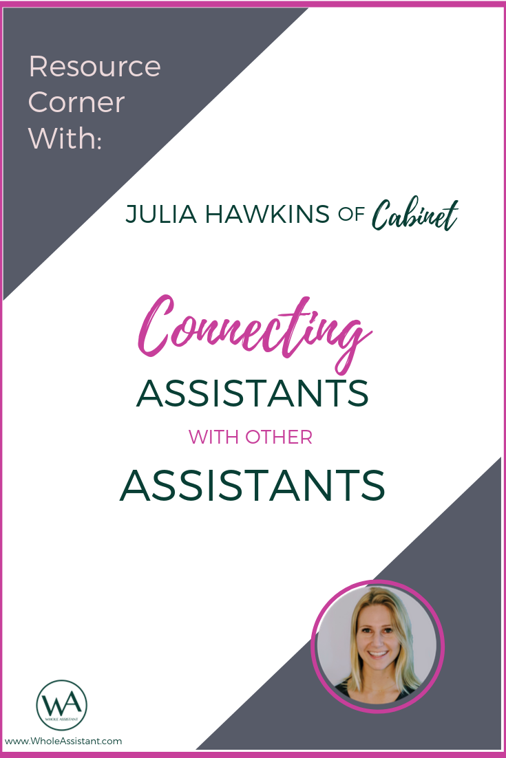 Resource Corner Interview with Julia Hawkins