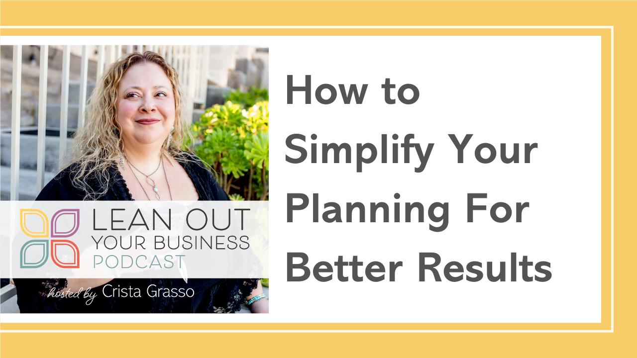 LOYB 4 | Simplify Your Planning