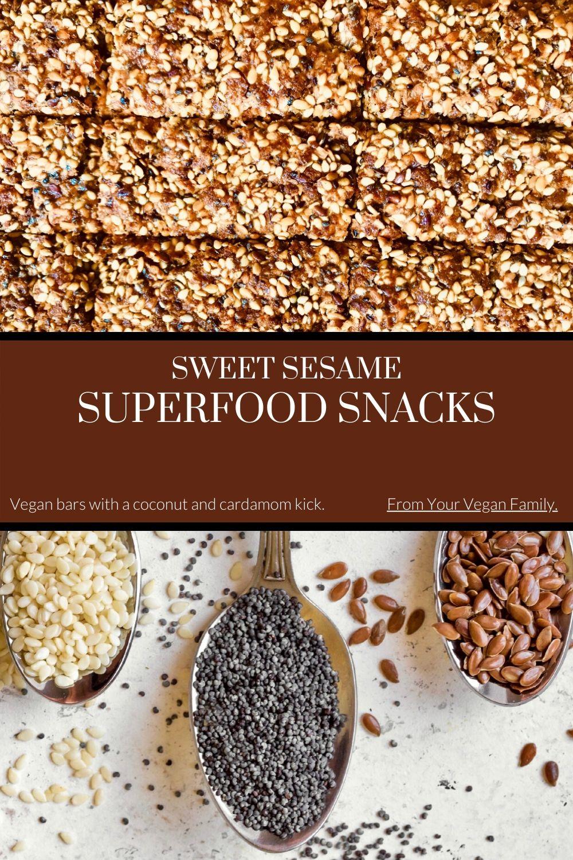 vegan sweet sesame superfood snack recipe Pinterest image 2